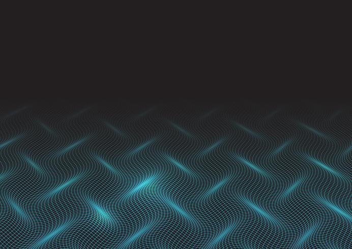 Techno golven ontwerp vector