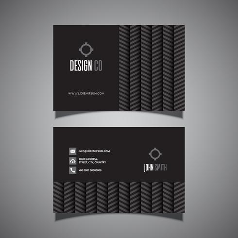Visitekaartje met chevron patroon vector