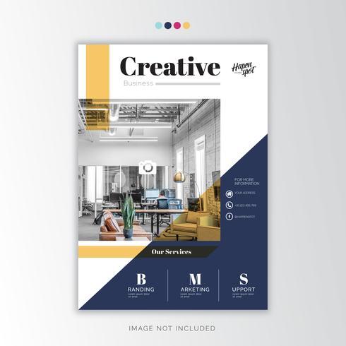 Blauw jaarverslag Corporate, creatief ontwerp vector