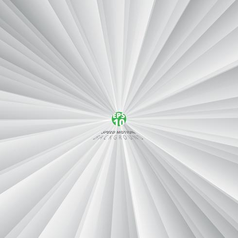 Abstracte geometrische driehoek radiale witte en grijze kleurenachtergrond. vector