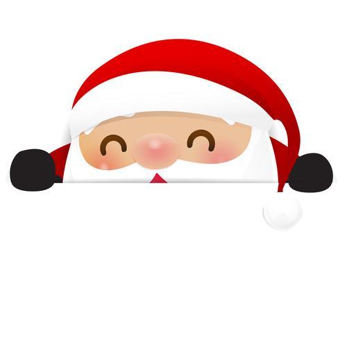 Kerstmissneeuwman Santa Claus-beeldverhaalglimlach op witte achtergrond 003 vector