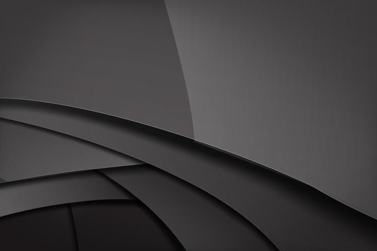 Abstracte achtergrond donker en zwart overlapt 011 vector