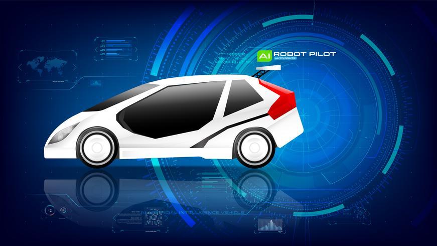 Elektronische EV-auto met AI-interface 002 vector