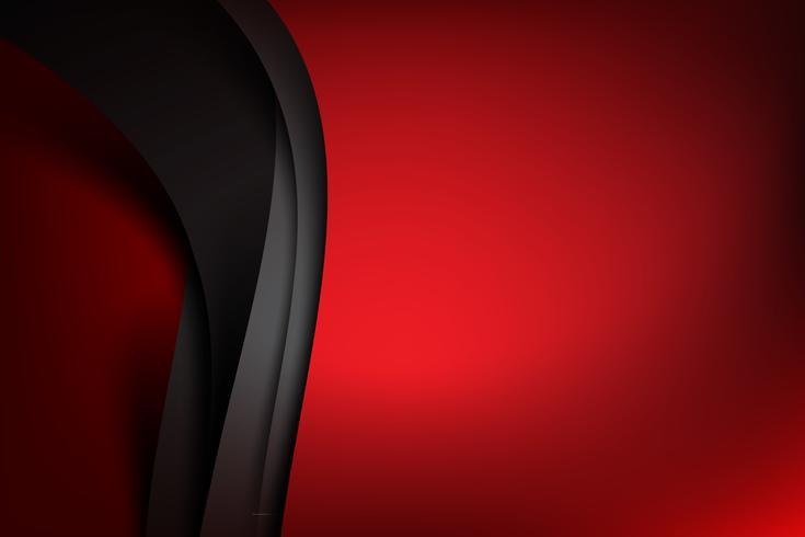 Rode abstracte achtergrond donkere en zwarte laag overlapt 001 vector