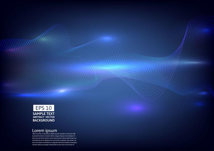 Deeltjesgolf abstract ontwerp als achtergrond. vectorillustratie vector