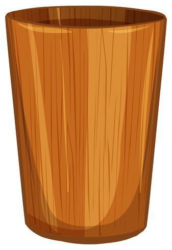 Waterbeker gemaakt van hout vector