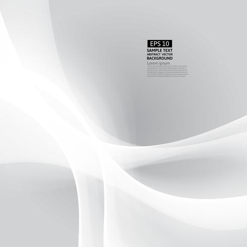 Vector grijze en witte kleurengolf abstracte achtergrond