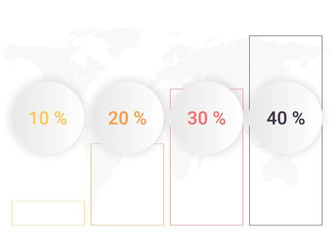 Infographicsdiagram met 4 stappen Groei of processen. Vector bedrijfsmalplaatje voor presentatie. bedrijfsgegevensvisualisatie.