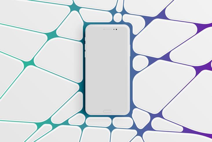 Kleurrijk smartphonemalplaatje voor reclame, vectorillustratie vector