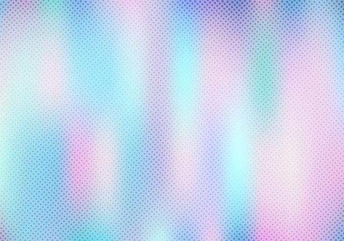 Abstracte vlotte vage holografische gradiëntachtergrond met halftone textuureffect. Hologram Luxe trendy zachte parelmoer. vector