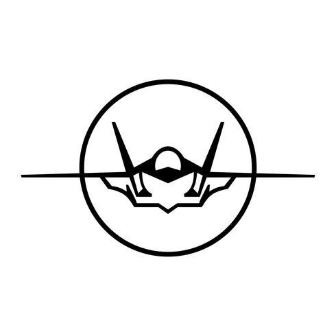 Vechter Jet Vector Icon