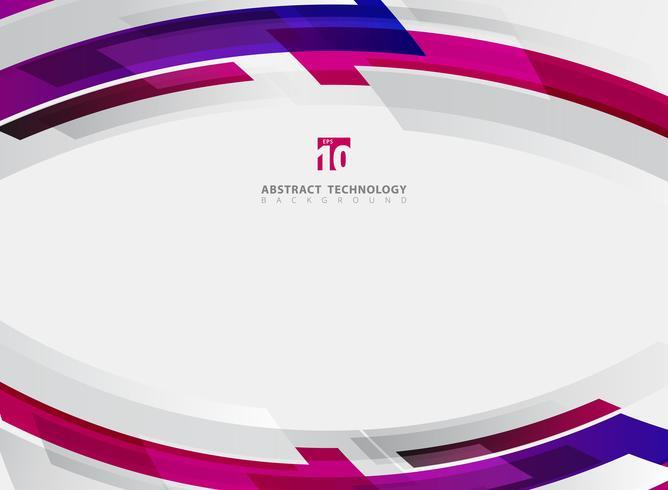 Abstracte technologie geometrische rode, blauwe, roze kleur glanzende beweging achtergrond. Sjabloon met kop- en voettekst voor brochure, print, advertentie, tijdschrift, poster, website, tijdschrift, folder, jaarverslag. vector