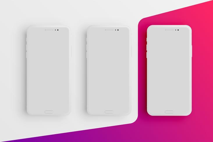 Red mat smartphone sjabloon, vectorillustratie vector