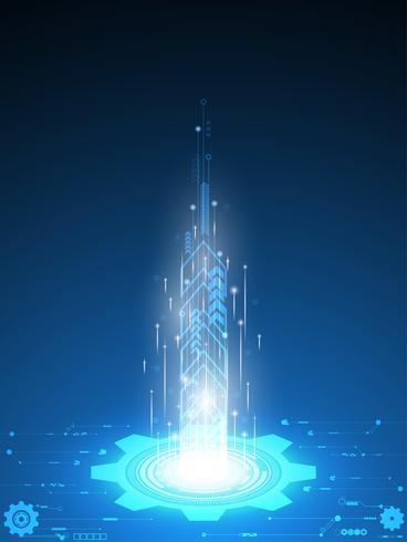 Vector van toekomstige technologieën die worden gebruikt voor massatransit.