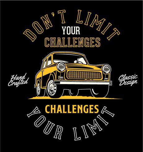 Beperk je uitdagingen niet vector