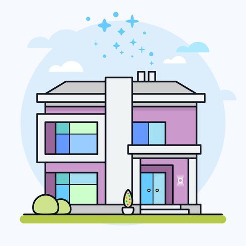 Vectorillustratie van modern huis. vector