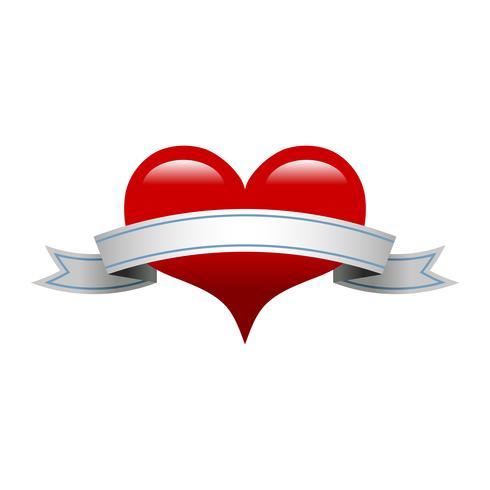 Heart Banner Romantic Love afbeelding vector