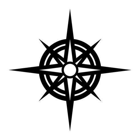 Navigatie Reiscompass vector