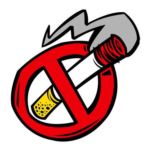 Sigaret roken vectorillustratie vector