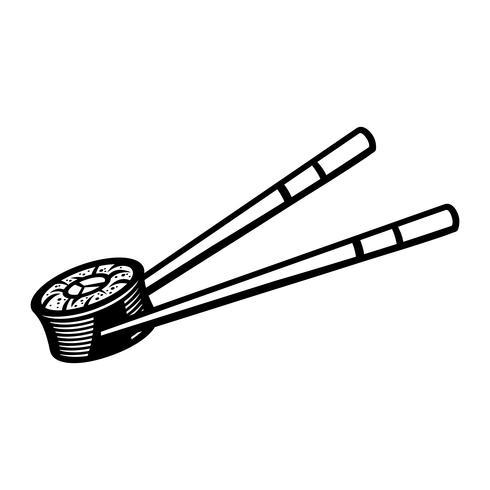 Sushi Aziatisch eten vector