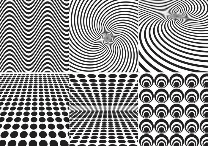 Geometrisch Vectorpatroonpak Twee vector