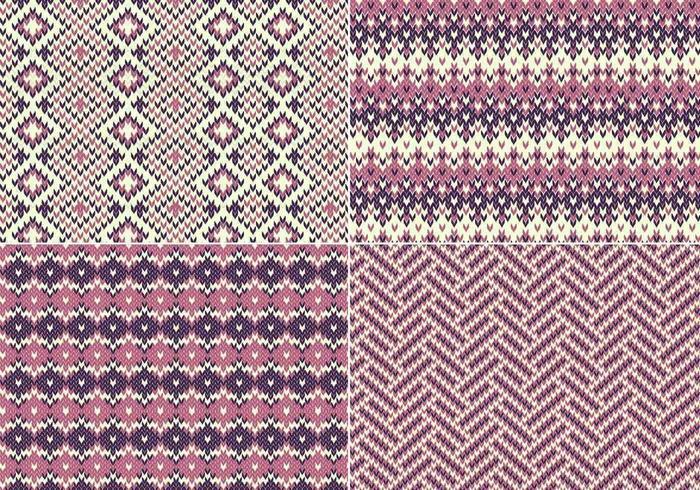 Gebreid patroonpatroon vector