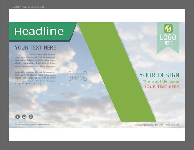 Presentatie lay-outontwerp voor zakelijke sjabloon, inspiratie voor uw ontwerp alle media. vector