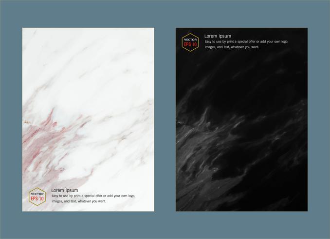 Cover boek ontwerp lay-out sjabloon witte marmeren textuur. vector