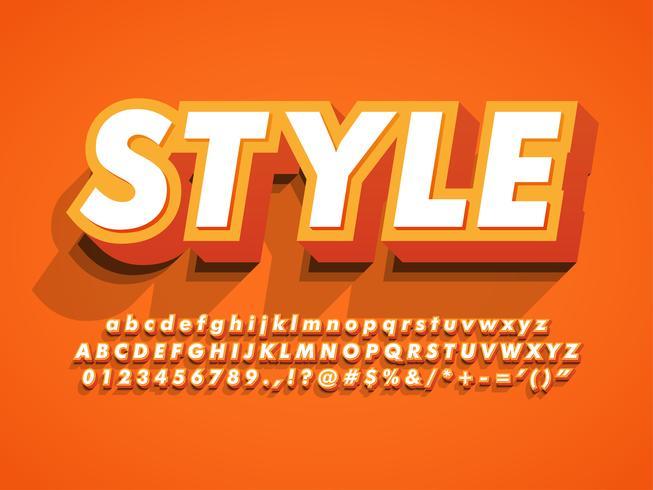 3d Vet en sterke moderne letterbeeld vector