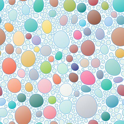 Naadloos abstract hand-drawn patroon zoals steenvorm. vector