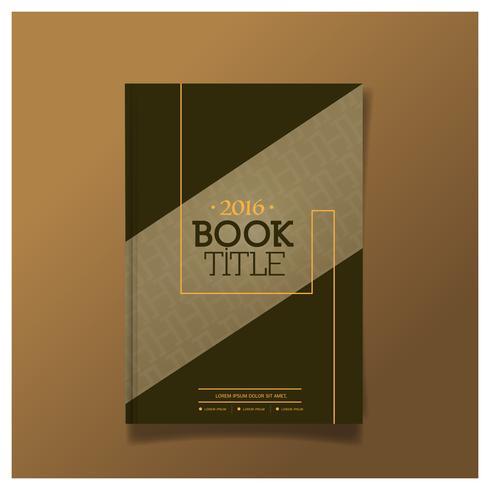 Brochureontwerp, Cover moderne lay-out, jaarverslag, flyer in A4 Poster Flyer Brochure Cover Design. vector