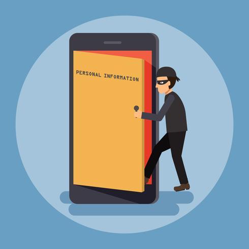 Cybersecurity en misdaadconcept. vector