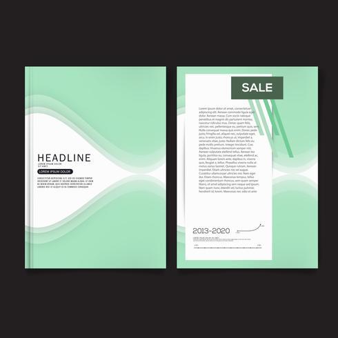 Cover ontwerpsjabloon, jaarverslag dekking, flyer, presentatie, brochure. Sjabloon voor lay-out voorste paginaontwerp met afloop in A4-formaat. vector