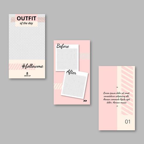 girly roze app-sjabloon vector