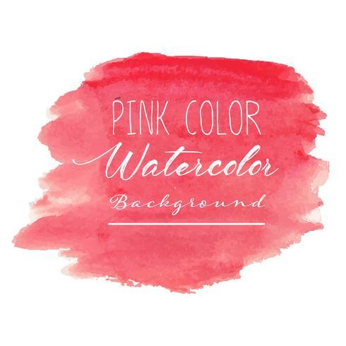 Roze abstracte waterverfachtergrond. Vector illustratie.