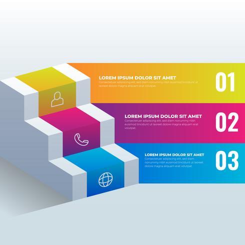 3D-infographic sjabloon voor zakelijke presentaties vector