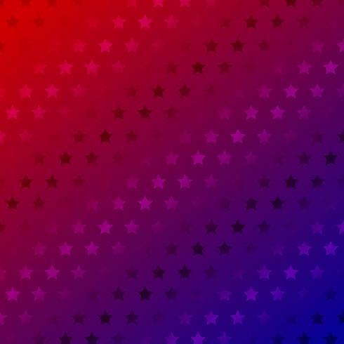 Abstract sterrenpatroon op de rode achtergrond van de gradiëntkleur. vector