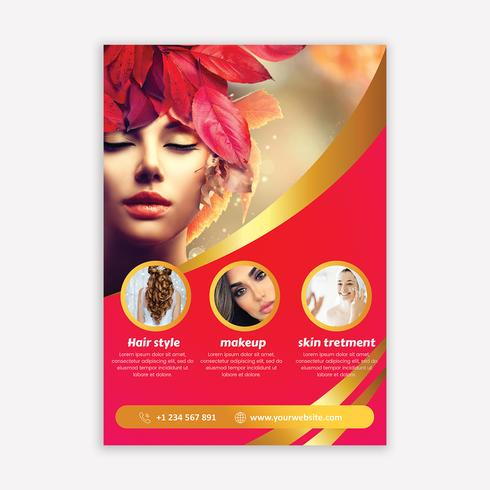 Salonbrochure vector