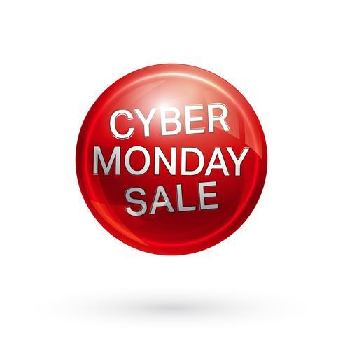Cyber maandag knop vector
