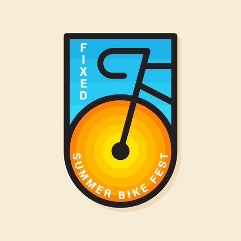 Premium kwaliteit fietsplaatje vector