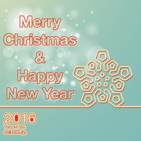 Vrolijk kerst-nieuwjaar vector