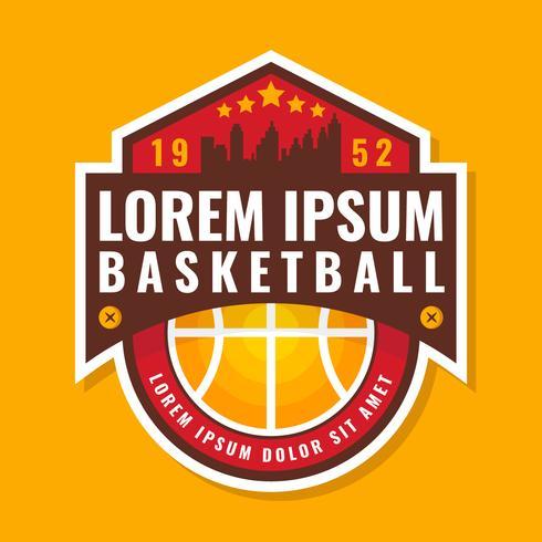 Premiumkwaliteit basketbal-badge vector