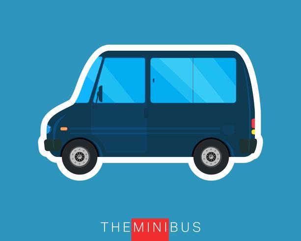 Mini-bus geïsoleerd vector