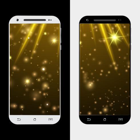 Gouden ster van smartphone vector