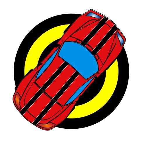 Rode sportwagen vector