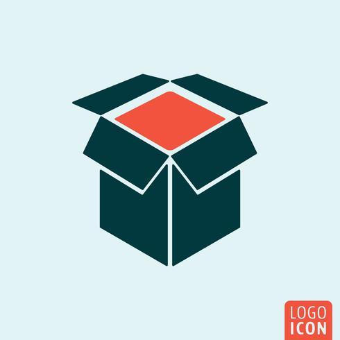 Box pictogram geïsoleerd vector