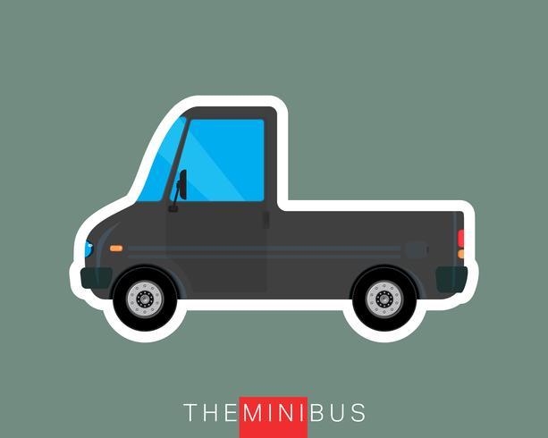 Pick-up bus geïsoleerd vector