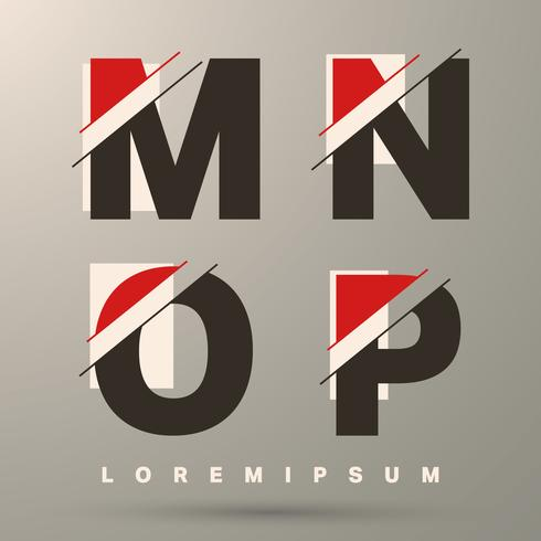 Lettertype sjabloon letters vector