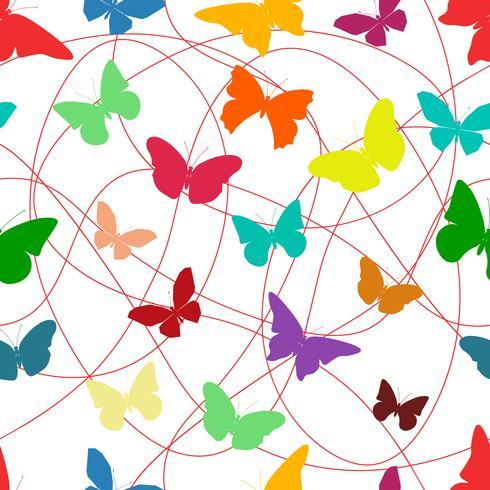 Vlinder naadloos patroon vector