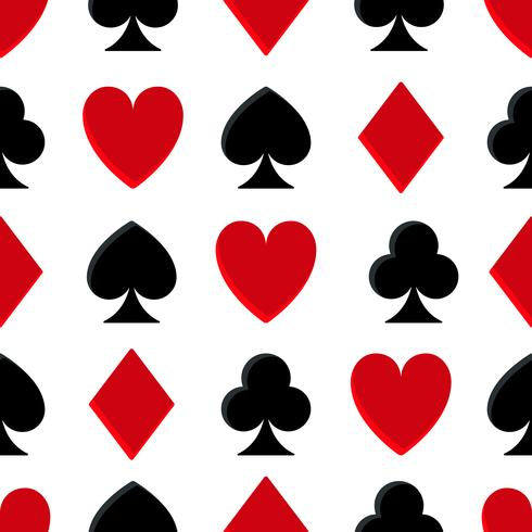 Casino poker naadloze patroon vector